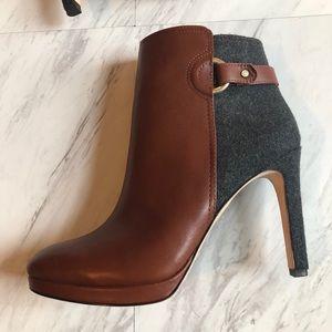 Antonio Melani Brown leather Grey Bootie 7.5
